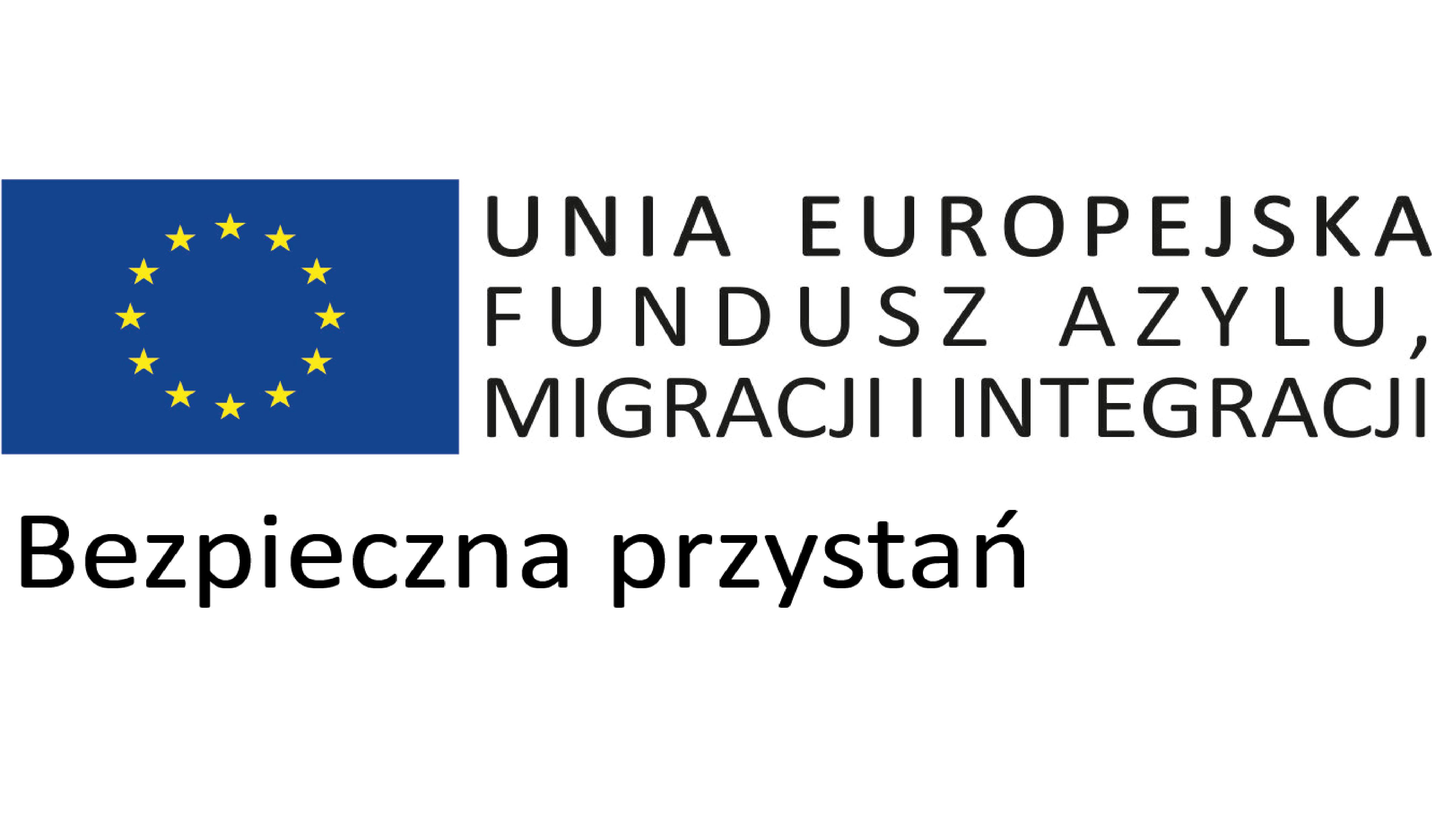 Logo Unie Europejskiej Fundusz Azylu Migracji i Integracji